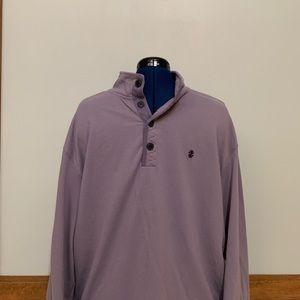 IZOD Saltwater Purple 1/4 Button Stretch Mens (XL)
